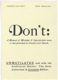 Don't: A Manual of Mistakes & Improprieties